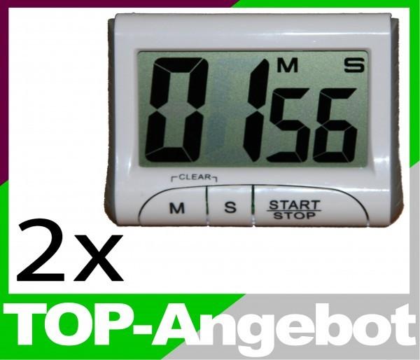 kurzzeitmesser digital eieruhr k chenuhr timer magnet u clip 2er set ebay. Black Bedroom Furniture Sets. Home Design Ideas