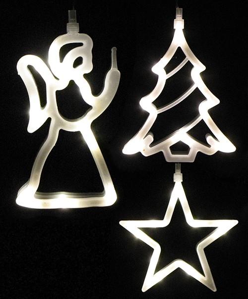 led fenster silhoutte deko weihnachten engel tannenbaum. Black Bedroom Furniture Sets. Home Design Ideas