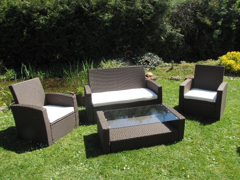 gartenm bel lounge set polyrattan garten m bel ebay. Black Bedroom Furniture Sets. Home Design Ideas
